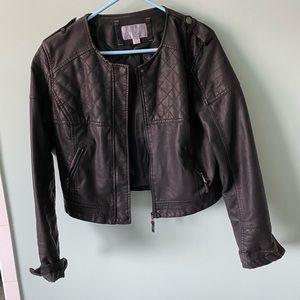 Xhilaration cropped leather style jacket